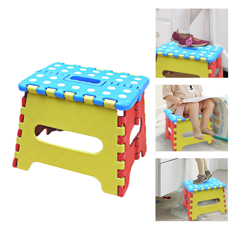 2019 Newly Hot Sale Steady Portable Thick Plastic Kids Folding Stool Outdoor Activity Tool Home Traveling Necessity Color Random