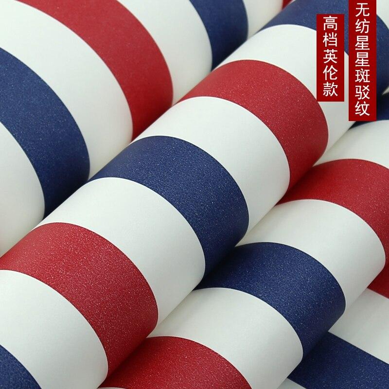 Купить с кэшбэком PAYSOTA Mediterranean Blue Red Vertical Stripe Wallpaper Children Bedroom Room Wall Paper Roll
