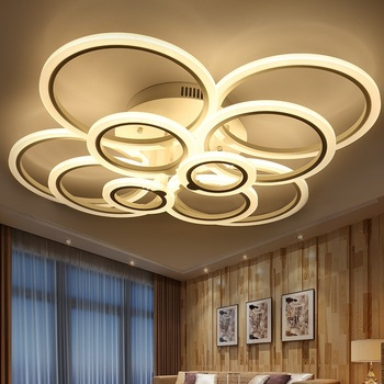 Stepless adjustable brightness and adjustable color LED acrylic ceiling lamps 4/6/8/10 heads LED ceiling lights