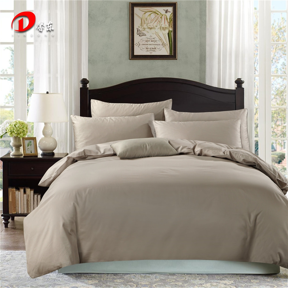 Dark Grey Satin Bedding Set Luxury Egyptian Cotton Bed Set