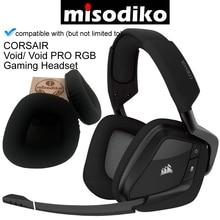 Corsair Void RGB Elite, Void PRO 게임용 헤드셋, 헤드폰 수리 부품 이어 패드 용 misodiko 이어 쿠션 패드 교체
