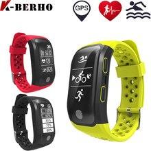 Smartband GPS S908 Coronary heart Charge Monitor Pedomenter Males Sport IP68 Good Watch Health Bracelet PK mi band 2 Wristband