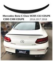 Carbon Fiber Spoiler For Mercedes Benz C Class W205 C63 COUPE C200 C300 2016 2017 2018