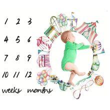 Newborn Weeks Monthly Milestone Photography Props Blankets C