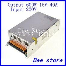 Из светодиодов драйвер 600 Вт 15 В 40A один выход ac 220 В в постоянный 15 В переключение блок питания для из светодиодов полосы света