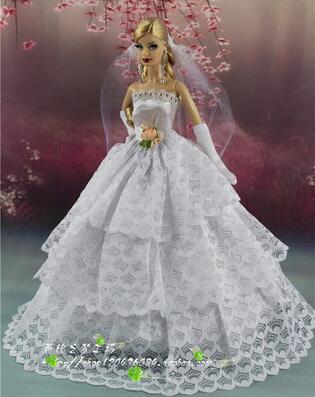 for barbie red dress barbie clothes princess wedding dress short dress set for barbie doll accessories dresses clothes lot