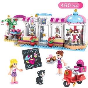 Image 5 - 534 шт. девушка город серии туристический Camper автобус модель автомобиля DIY Строительные блочные фигурки друзей Кирпичи подарок на день рождения игрушки для девочек