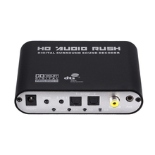 5.1 Channel Digital-to-Analog Converter DTS Dolby/AC3 Digital Surround Sound Decoder SPDIF Coaxial AUX To Analog RCA high quality audio gear digital dolby dts ac 3 optical to 5 1 channel rca analog sound decoder spdif