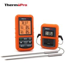 ثيرموبرو TP 20 عن بعد اللاسلكية الرقمية BBQ ، ميزان حرارة فرن المنزل استخدام مسبار من الفولاذ المقاوم للصدأ شاشة كبيرة مع الموقت