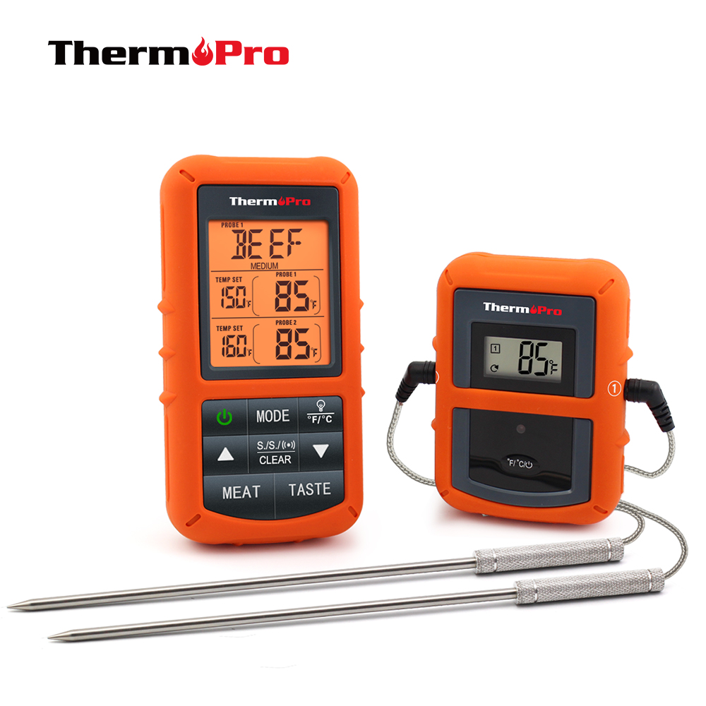 ThermoPro TP 20 Remote Wireless Digital BBQ, Oven Thermometer  Home Use Stainless Steel Probe Large Screen with Timerwireless  bbqwireless thermometer bbqbbq wireless