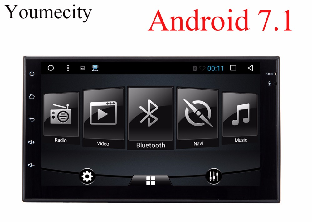 Youmecity 7 INCH 2 Din Android 7 1 For NISSAN QASHQAI Tiida x trail Car dvd