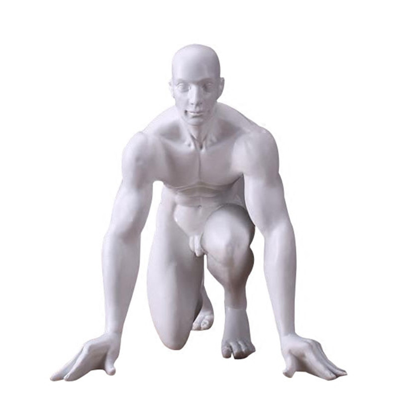 Abstract Race Start Athlete Sculpture Handmade Resin Sprinter Figurine Sports Souvenir Decor Art And Craft Accessories R441