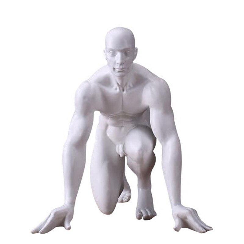 Abstract Race Start Athlete Sculpture Handmade Resin Sprinter Figurine Sports Souvenir Decor Art and Craft Accessories R441Abstract Race Start Athlete Sculpture Handmade Resin Sprinter Figurine Sports Souvenir Decor Art and Craft Accessories R441
