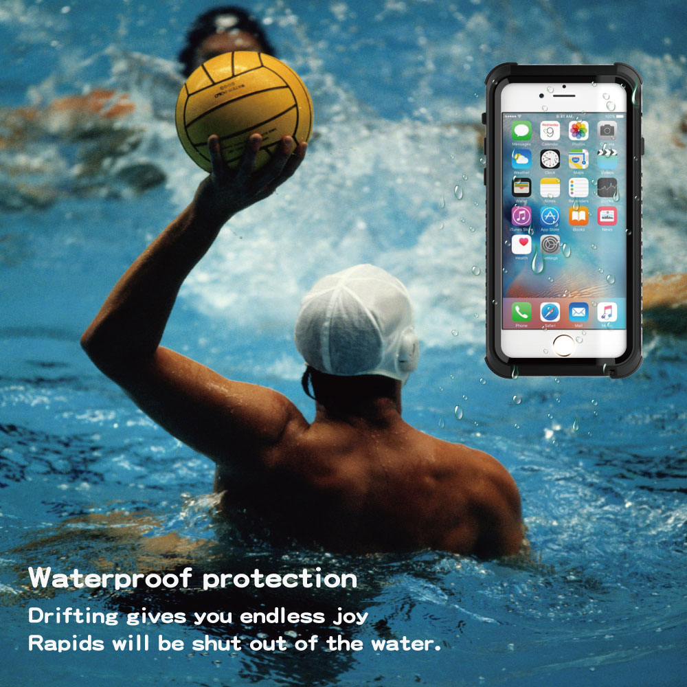 Image 2 - Luxury Shockproof Waterproof Case For iphone 7 Life and swimming dual use Waterproof Case For iPhone 6 6s 7 plus phone c-in Fitted Cases from Cellphones & Telecommunications