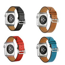 YIFALIAN Series 2/1 Genuine Leather watchBand Single Tour Bracelet Band strap For Apple Watch 38mm 42mm