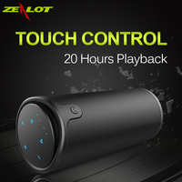 Zealot S8 Bluetooth speakers Touch Control Wireless Portable Outdoor Double horn sound Strong bass Aux Audio/TF Card subwoofer