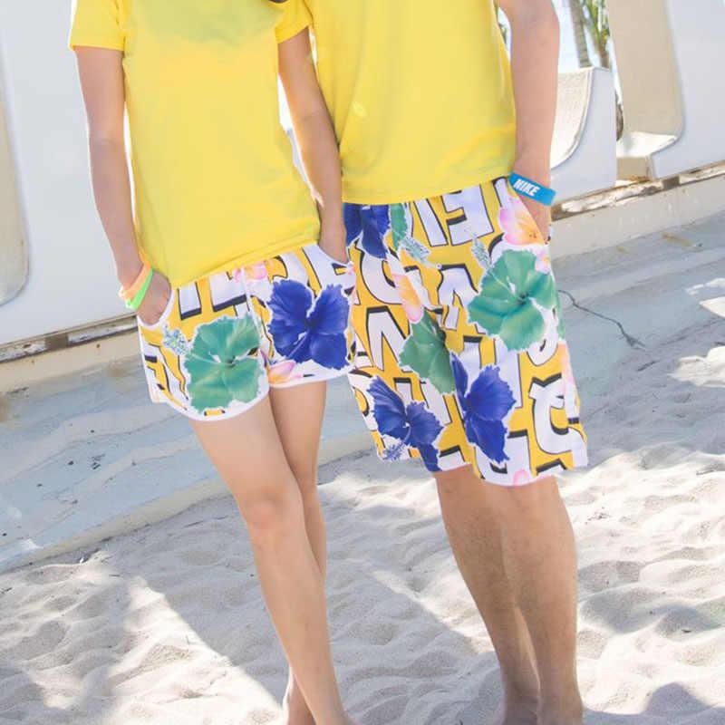 Купальник для пары, для пляжа, для серфинга, женские трусы-боксеры с морской тематикой, шорты для плавания для женщин, мужские пляжные шорты для плавания, женские шорты для плавания, мужские купальники
