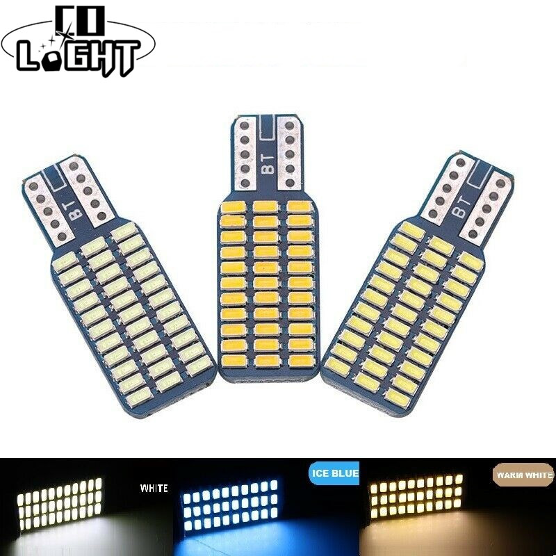 CO LIGHT T10 192 194 168 W5W LED Bulbs 33 SMD 3014 Car Tail Lights Dome Lamp White DC 12V Canbus Error Free Auto Accessories