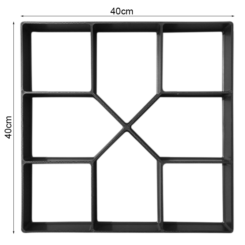 DIY Paving Mold Stepping Stone Pavement Driveway Patio Paver Path Maker Floor Garden Design 40*40*4cm