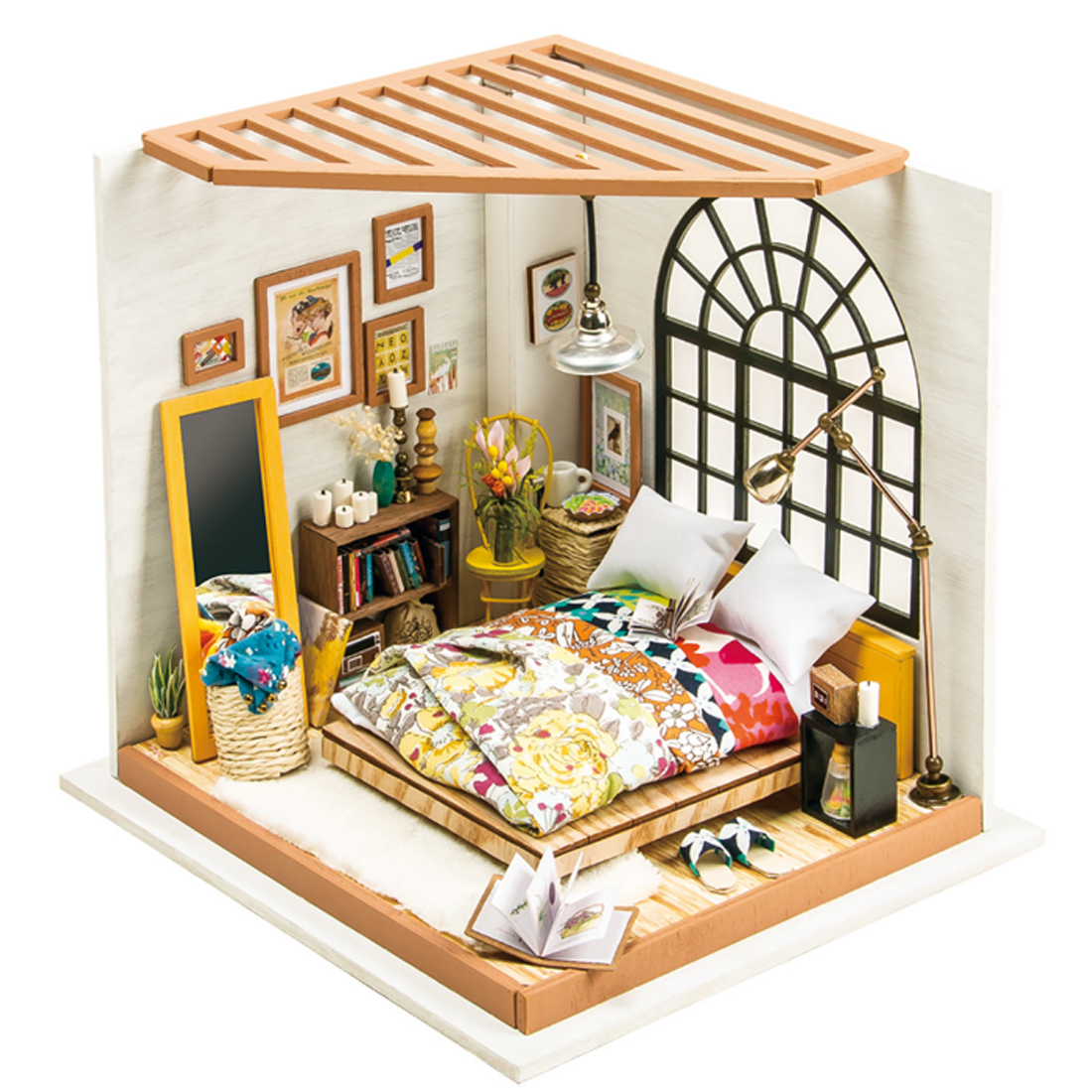 Robotime Manual Assembly DIY Dollhouse Alice's Dreamy Bedroom with LED Light Stem Toys for Home Decoraction комплект белья mona liza stone topaz 2 спальный наволочки 50x70 552205 65
