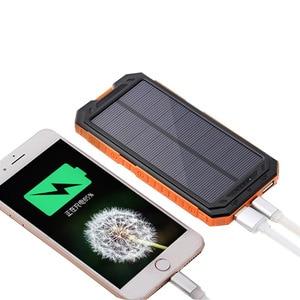 Image 5 - Colaier Solar Power Bank Dual USB 20000mAh Waterproof PowerBank Bateria External Portable Solar Panel with LED Burgundy