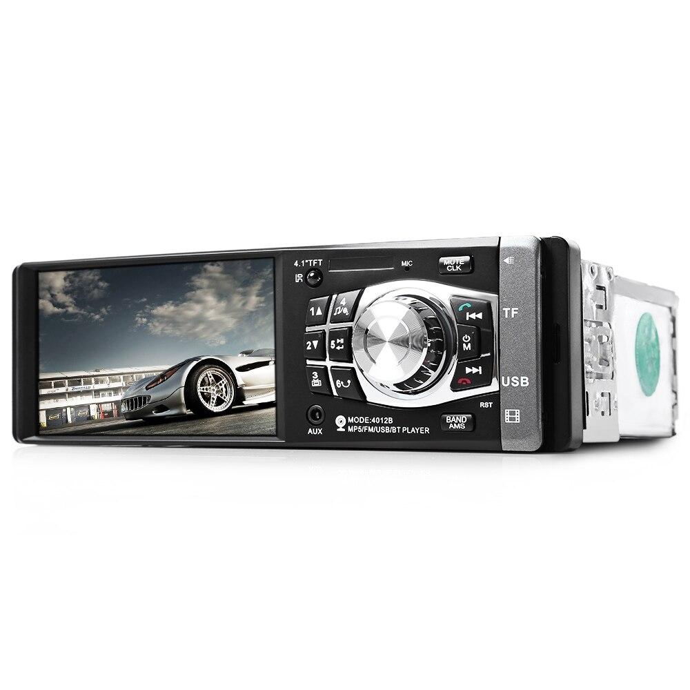 4012b 1 din автомагнитолы авто усилители стерео 4.1 дюймов mp4 mp5 плеер мультимедиа аудио видео действия камеры заднего вида usb fm bluetooth