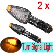 2x 10 LED UNIVERSAL MOTORCYCLE font b MOTORBIKE b font TURN SIGNAL INDICATOR LIGHT LAMP AMBER