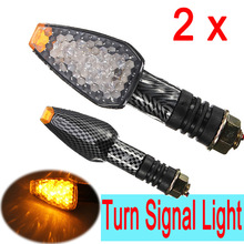 2x 10-LED UNIVERSAL MOTORCYCLE MOTORBIKE TURN SIGNAL INDICATOR LIGHT LAMP AMBER
