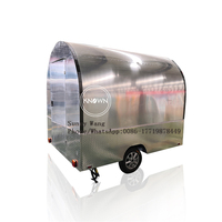 Stainless steel snack food truck mobile pizza carts food truck pizza trailer for sale