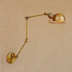 Image 1 - 스윙 긴 팔 벽 램프 레트로 로프트 스타일 빈티지 산업 조명기구 wandlamp 에디슨 벽 sconces applique 빛 pared