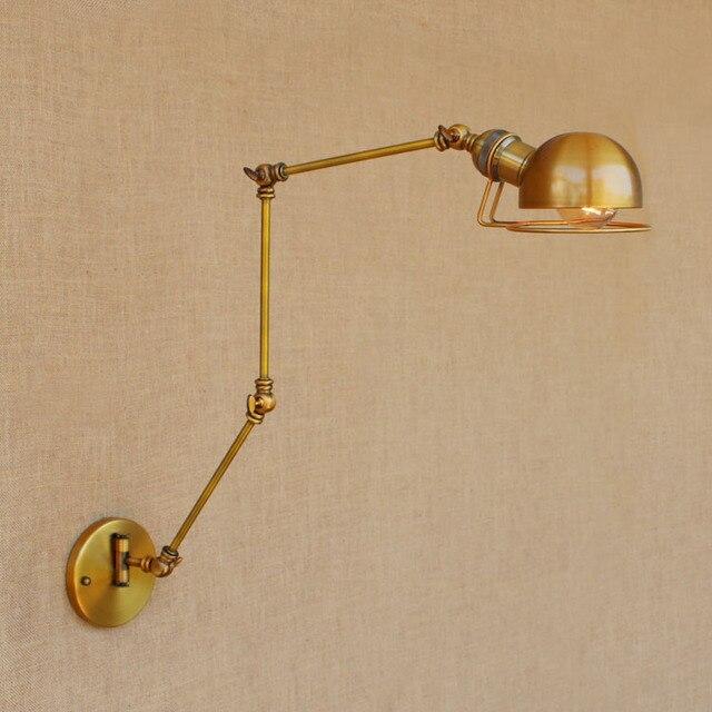 스윙 긴 팔 벽 램프 레트로 로프트 스타일 빈티지 산업 조명기구 wandlamp 에디슨 벽 sconces applique 빛 pared