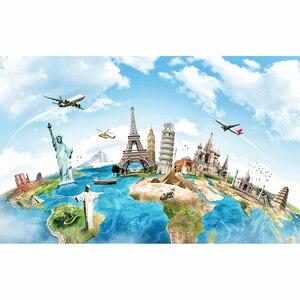 Image 2 - خلفيات Funnytree للصور ستوديو السفر عالم الخريطة العمارة الشهيرة استوديو الصور المهنية خلفية كشك الصور