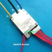 24V Lithium Ion Battery BMS 7S 24V 15A BMS Charging Voltage 29 4V With Balance Function