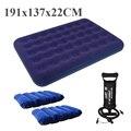 Al aire libre doble 137*191*22 cm 2 persona dormir sofá cama de aire colchón inflable cama de aire cama de aire que acampa para acampar almohada bomba