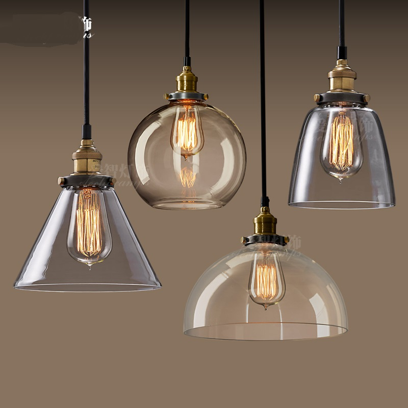 Retro industry retro glass chandelier North Village Industrial study the living room bedroom living rough bar lamp loft GY288 купить дешево онлайн