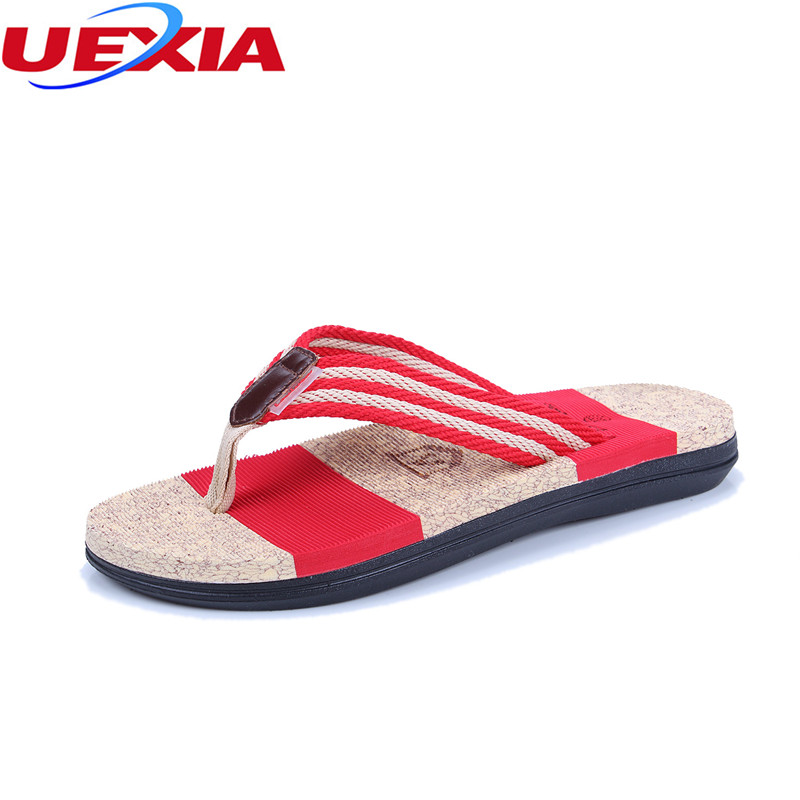 UEXIA New Summer Beach Cork Women Slippers Casual Shoes Clogs Slip on Flip Flops Flats Shoes Non-slide slippers breathable black new arrival solid women summer slippers flip flops genuine leather flat slippers ladies slip on flats clogs shoes woman