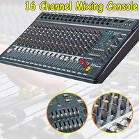16 канальный 110 V 220 V караоке аудио микшер усилитель мини Микрофон Звук микшерный пульт с USB Phantom Мощность