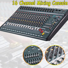 16 Channel 110V-220V Karaoke Audio Mixer Mini Microphone Sound Mixing Console With USB Phantom Power(China)