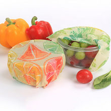 3PCs Beeswax Food Wrap Fresh Cloth Instead Of Cling Film Free Packaging Wrap Reusable Food Grade For Sandwich Snack Fruit Cheese(China)