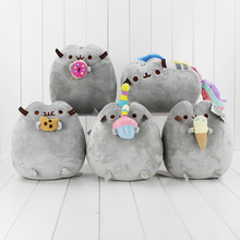 Kawaii Brinquedos Pusheen Cat Cookie Icecream Doughnut Plush Dolls Stuffed Soft Animals Toys For Gifts
