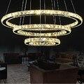 Кристальная круглая Подвесная лампа для столовой  Современный хрустальный подвесной светильник  светильник для столовой  Подвесная лампа ...