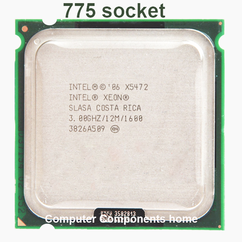 INTEL XEON X5472 quad core 4 core 3.0MHZ LeveL2 12M  1600 Work on 775 motherboard no need  adaperts
