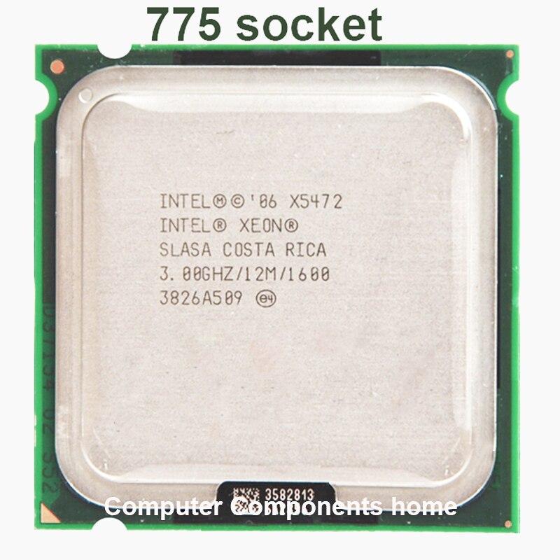 INTEL XEON X5472 quad core 4 core 3.0MHZ LeveL2 12M 1600 Trabalho em 775 motherboard sem necessidade adaperts