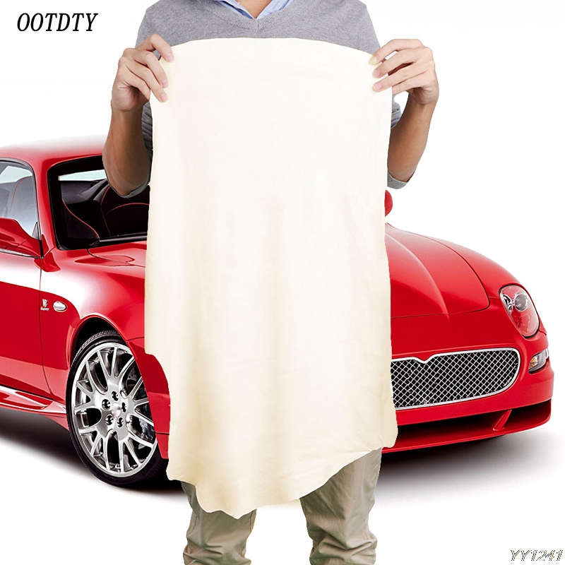 OOTDTY 40*70CM Natural Shammy Chamois Leather Car Cleaning Towels Drying Washing Cloth