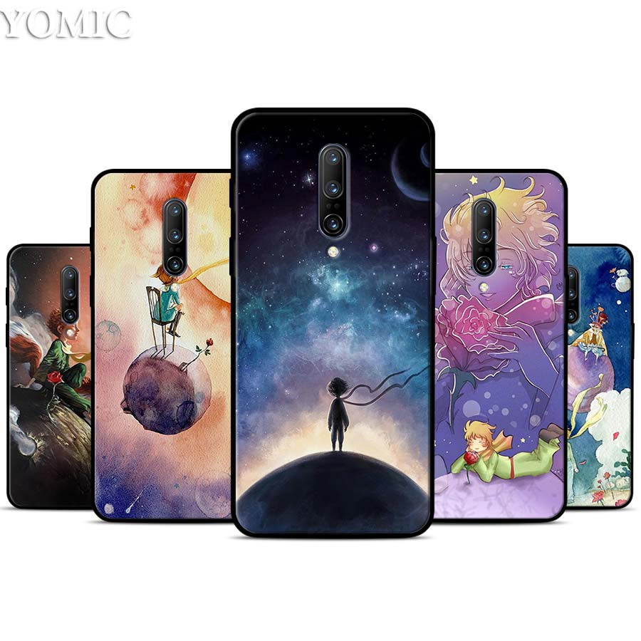Little Prince Watercolor Art Silicone Case for font b Oneplus b font font b 7 b