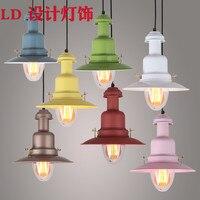 Luzes pingente do vintage lâmpada loft nordic hanglamp restaurante luz da cozinha luminária de suspensão casa iluminação industrial