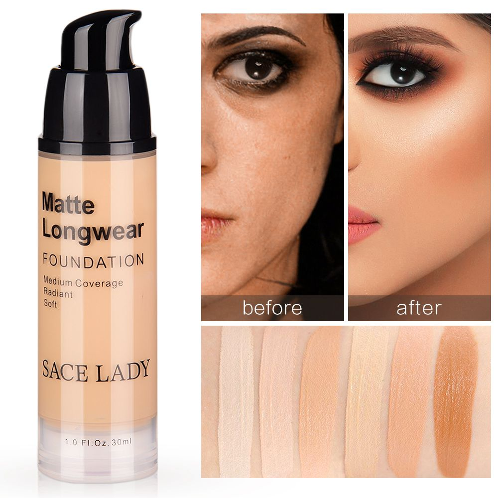 Matte Long Wear Liquid Foundation Natura Color Changing Coverage Make Up Foundation Perfect Beauty Invisible Before Foundation image