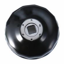 1pc黒鋼 74 ミリメートル 14 フルートオイルフィルターレンチキャップハウジングツールソケット除去bmwオートバイK75 k100 R1100 R1150 R1200