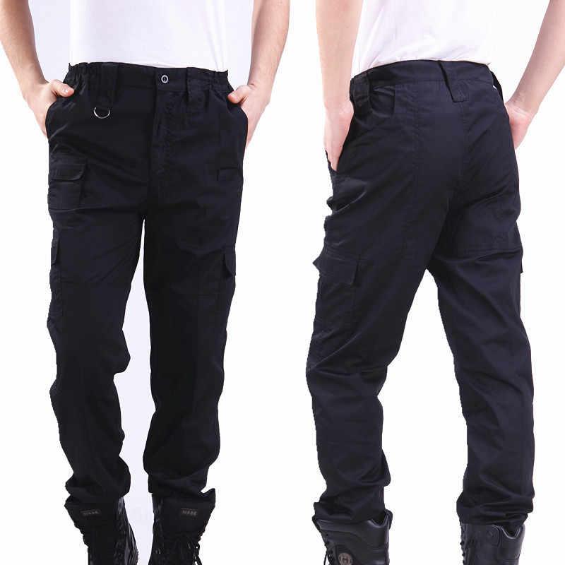 Pantalones Cargo Negros De Estilo Militar Para Hombre Ropa Informal Pantalones Tacticos De Invierno Trabajo De Seguridad Policial Pantalones De Ejercito Pantalones Informales Aliexpress