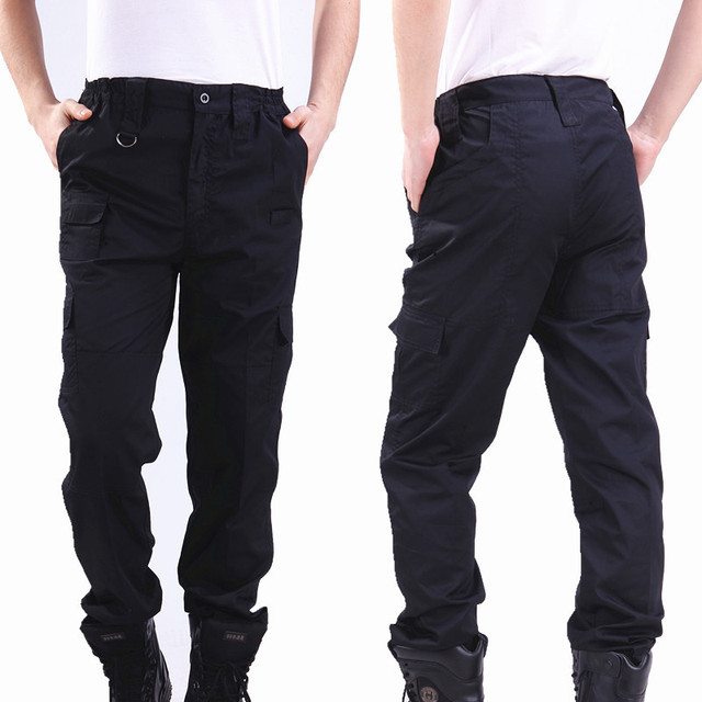Cargo Pant Men Black Pants Military Style Casual Pantalones WinterTactical Pants  Police Security Duty Work Trouser Army Overalls 75e43dff2d1